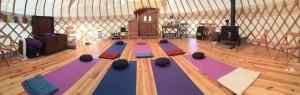 yurt inside wide angle